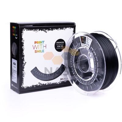ASA filament black volcano 1,75 mm Print With Smile 0,85kg