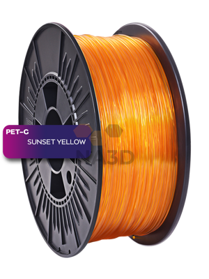 NEBULA PETG SUNSET YELLOW 1,75 mm 1 kg (NEBULA PETG SUNSET ŽLTÁ 1,75 mm 1 kg)
